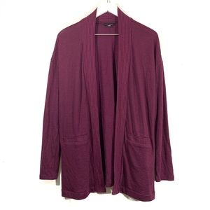 Banana Republic Plum Purple Open Cardigan Sweater